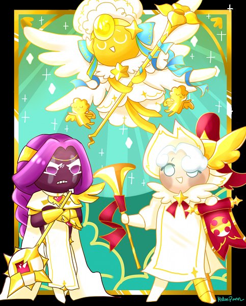 Tags: Anime, Long-melonme, Cookie Run: OvenBreak, Cookie Run, Angel Cookie (Voice Of Virtue), Purple Yam Cookie, Milk Cookie (Herald Of Victory), Milk Cookie, Purple Yam Cookie (Champion Of Valor), Angel Cookie, Fanart From DeviantART, deviantART, Fanart