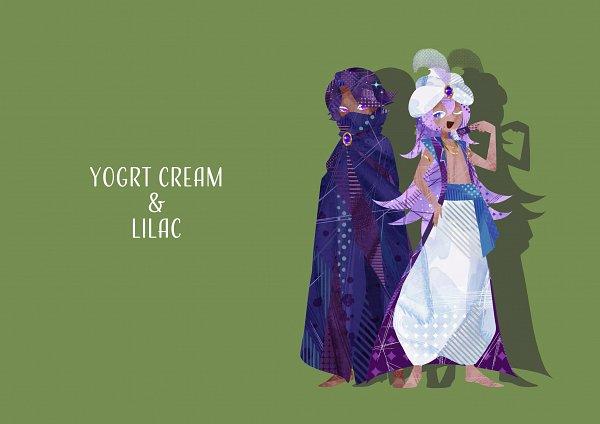 Tags: Anime, Pixiv Id 40328716, Cookie Run: OvenBreak, Cookie Run, Lilac Cookie, Yogurt Cream Cookie, Fanart From Pixiv, Pixiv, Fanart