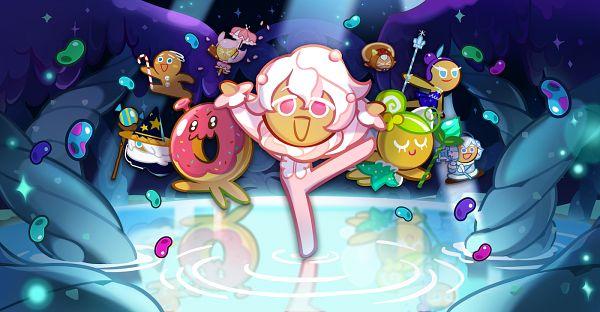 Tags: Anime, Devsisters, Cookie Run: OvenBreak, Cookie Run, Fairy Cookie, GingerBrave, Cherry Blossom Cookie, Pancake Cookie, Wizard Cookie, Whipped Cream Cookie, Snow Sugar Cookie, Space Doughnut, Skating Queen Cookie