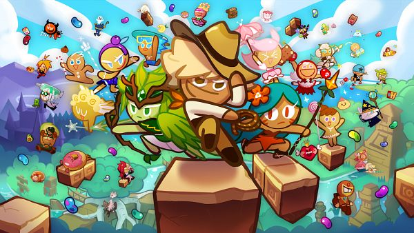 Tags: Anime, Devsisters, Cookie Run: OvenBreak, Cookie Run, Mustard Cookie, Soda Cookie, Alchemist Cookie, Devil Cookie, Hero Cookie, Avocado Cookie, Wizard Cookie, Fairy Cookie, GingerBright
