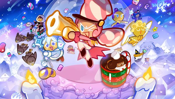 Tags: Anime, Devsisters, Cookie Run: OvenBreak, Cookie Run, Red Bean Cookie, Cocoa Cookie, Sweet Rice Seal, Marshmallow Cookie, Wizard Cookie, GingerBrave, Snow Sugar Cookie, Ice Candy Cookie, Angel Cookie