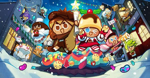 Tags: Anime, Devsisters, Cookie Run: OvenBreak, Cookie Run, Chestnut Cookie, Mint Choco Cookie, Owlcorn, Herb Cookie, Marshmallow Hamster, Cocoa Cookie, Mr. Fa-sol-la-si, Cotton Candy Cookie, Discordeon