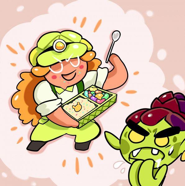 Tags: Anime, CookieCookie, Cookie Run: OvenBreak, Cookie Run, Melon Bun Cookie, Goblin Cookie, Miner, Goblin, Twitter, Fanart