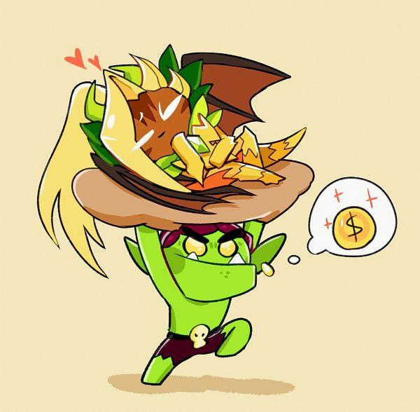 Tags: Anime, CookieCookie, Cookie Run: OvenBreak, Cookie Run, Ananas Dragon Cookie, Goblin Cookie, Goblin, Fanart, Twitter