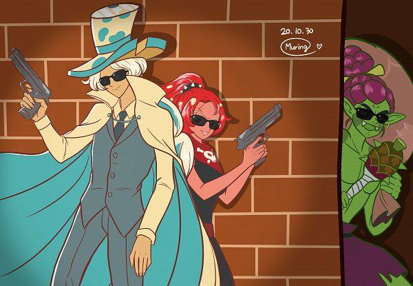 Tags: Anime, Muring, Cookie Run: OvenBreak, Cookie Run, Roguefort Cookie, Goblin Cookie, Chili Pepper Cookie, Bonanza Bros. (Parody), Thief, Goblin, Phantom Thieves, PNG Conversion, Fanart