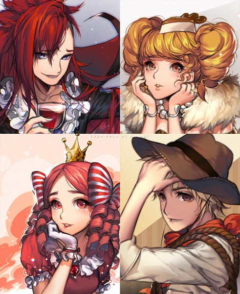 Tags: Anime, kawacy, Cookie Run, Princess Cookie, Adventurer Cookie, Vampire Cookie, Cheesecake Cookie, Fanart, Fanart From Pixiv, Pixiv