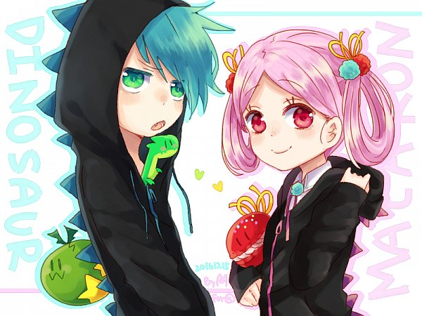Tags: Anime, Pixiv Id 3829625, Cookie Run, Dino-Sour Cookie, Macaron Cookie, Dino Egg, Castanets (Cookie Run), Castanets, Fanart From Pixiv, Pixiv, Wallpaper, Fanart