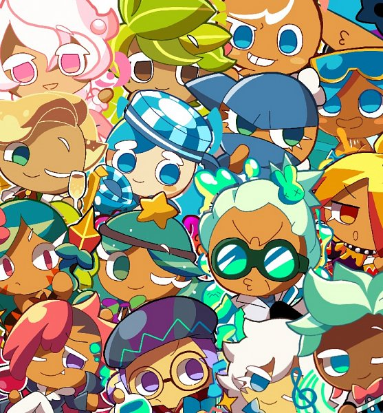 Tags: Anime, Pixiv Id 24643570, Cookie Run: OvenBreak, Cookie Run, Skater Cookie, Alchemist Cookie, Mustard Cookie, Rockstar Cookie, Vampire Cookie, Carol Cookie, Herb Cookie, Soda Cookie, Mint Choco Cookie