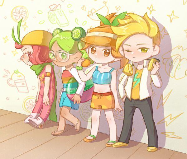 Tags: Anime, Pixiv Id 1802302, Cookie Run: OvenBreak, Cookie Run, Orange Cookie (Sun-kissed Summer), Orange Cookie, Lime Cookie (Sunny Summer), Lime Cookie, Lemon Cookie, Grapefruit Cookie, Fanart From Pixiv, Pixiv, Fanart