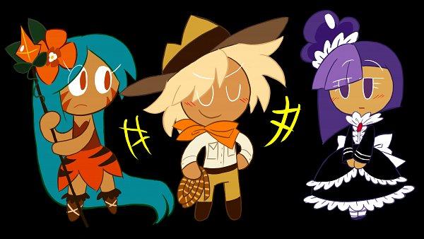 Tags: Anime, Raccoon-P, Cookie Run, Tiger Lily Cookie, Adventurer Cookie, Blackberry Cookie, Fanart From DeviantART, deviantART, Fanart