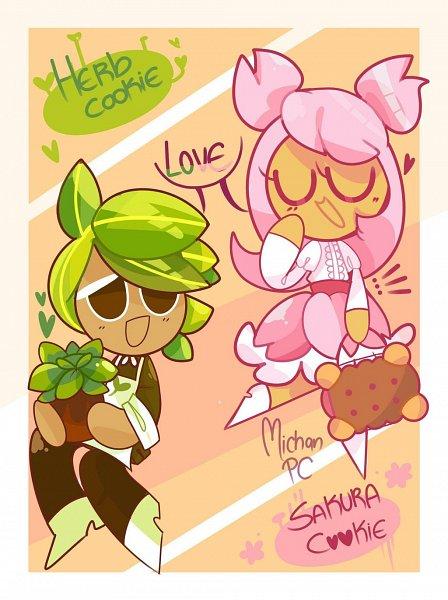 Tags: Anime, Michanpc, Cookie Run, Cherry Blossom Cookie, Herb Cookie, Handbag, Potted Plant, deviantART, Fanart, Fanart From DeviantART