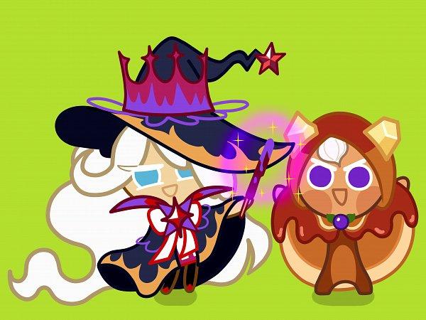 Tags: Anime, Pixiv Id 4156578, Cookie Run: OvenBreak, Cookie Run, Pancake Cookie, Cream Puff Cookie, Cream Puff Cookie (Dark Magic Hat), Fanart From Pixiv, Pixiv, Wallpaper, Fanart