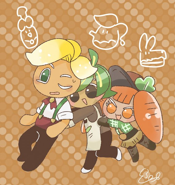 Tags: Anime, Pixiv Id 3888266, Cookie Run: OvenBreak, Cookie Run, Carrot Cookie, Herb Cookie, Sparkling Cookie, Fanart From Pixiv, Pixiv, Fanart