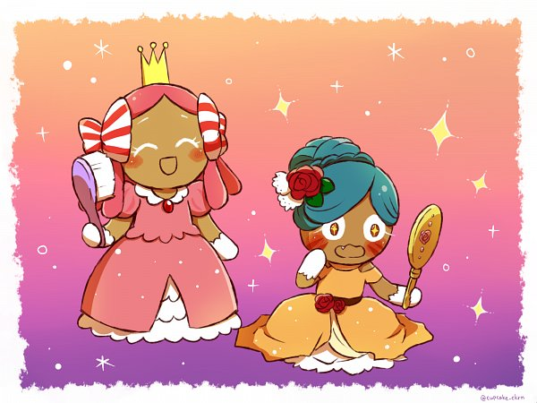 Tags: Anime, Pixiv Id 38029531, Cookie Run, Princess Cookie, Tiger Lily Cookie, Hand Mirror, Wallpaper, Fanart, Fanart From Pixiv, Pixiv