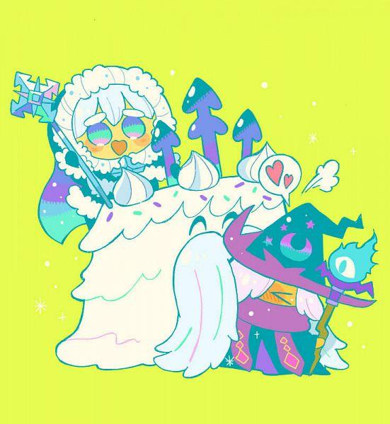 Tags: Anime, Misaki-omoomochiii, Cookie Run: OvenBreak, Cookie Run, Wizard Cookie (Azure Flame Staff), Snow Sugar Cookie (Aurora Cloak), Great Snow King, Wizard Cookie, Snow Sugar Cookie, Fanart From Tumblr, Tumblr, Fanart