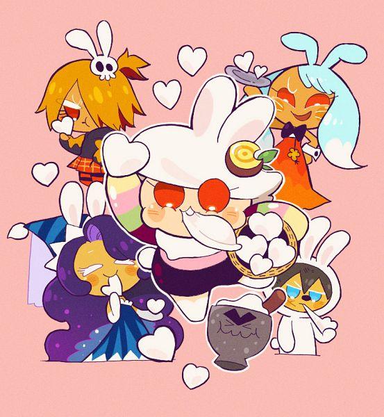 Tags: Anime, Misaki-omoomochiii, Cookie Run: OvenBreak, Cookie Run, Moonlight Cookie, Moon Mortar, Moon Rabbit Cookie, Werewolf Cookie, Mustard Cookie, Kumiho Cookie, Songpyeon, Fanart From Tumblr, Tumblr