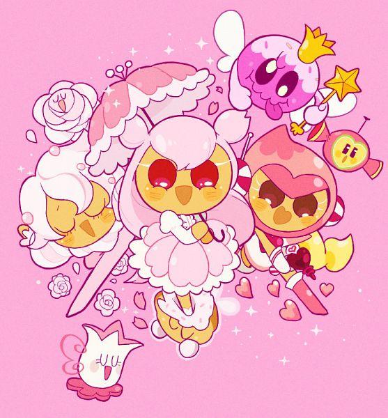 Tags: Anime, Misaki-omoomochiii, Cookie Run: OvenBreak, Cookie Run, Tea Cup (Cookie Run), Cherry Blossom Cookie, Whipped Cream Cookie, Pink Choco Cookie, Pink Candy (Cookie Run), Fanart From Tumblr, Fanart, Tumblr