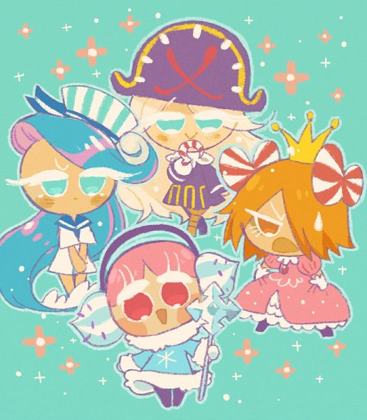 Tags: Anime, Misaki-omoomochiii, Cookie Run: OvenBreak, Cookie Run, Sea Fairy Cookie, Cream Puff Cookie (Dark Magic Hat), Macaron Cookie, Mustard Cookie, Cream Puff Cookie, Cookie Run (Cosplay), Princess Cookie (Cosplay), Pirate Cookie (Cosplay), Peppermint Cookie (Cosplay)