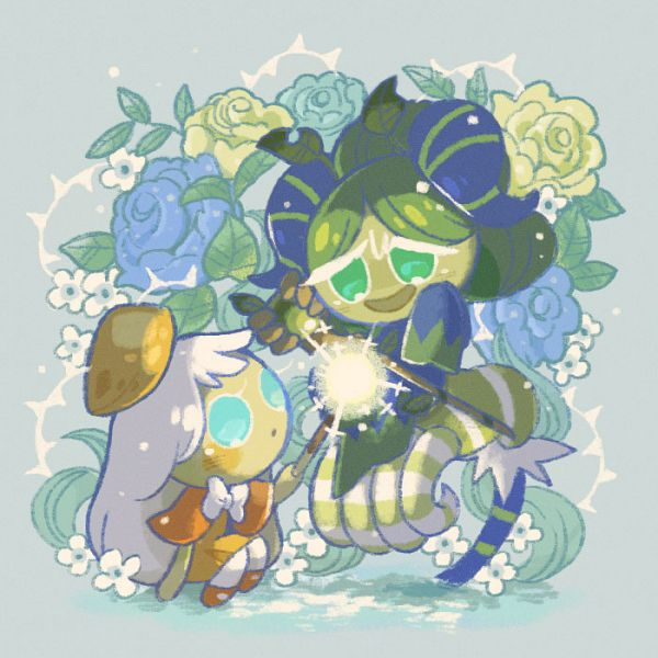 Tags: Anime, Misaki-omoomochiii, Cookie Run: OvenBreak, Cookie Run, Matcha Cookie, Cream Puff Cookie, Orange Footwear, Fanart From Tumblr, Tumblr, Fanart