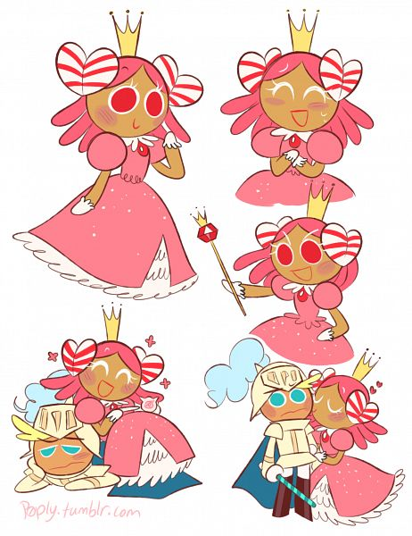 Tags: Anime, P0ply, Cookie Run, Knight Cookie, Princess Cookie, Fanart, Fanart From Tumblr, Tumblr