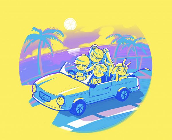 Tags: Anime, Pixiv Id 33369553, Cookie Run: OvenBreak, Cookie Run, Lemon Cookie, Grapefruit Cookie, Orange Cookie, Lime Cookie, Sun (Symbol), Driving, Pixiv, Fanart, Fanart From Pixiv