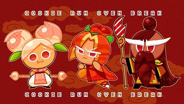 Tags: Anime, Darkerload, Cookie Run: OvenBreak, Cookie Run, Peach Cookie, Plum Cookie, General Jujube Cookie, Pixiv, Wallpaper, Fanart, Fanart From Pixiv