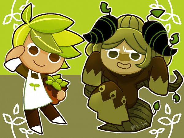 Tags: Anime, Darkerload, Cookie Run: OvenBreak, Cookie Run, Herb Cookie, Matcha Cookie, Potted Plant, Fanart, Fanart From Pixiv, Pixiv