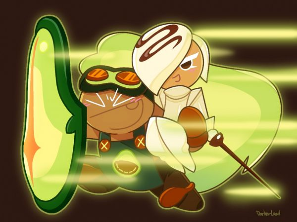 Tags: Anime, Darkerload, Cookie Run: OvenBreak, Cookie Run, Avocado Cookie, White Choco Cookie, Fencing Suit, Fencing Stick, Fanart From Pixiv, Pixiv, Fanart