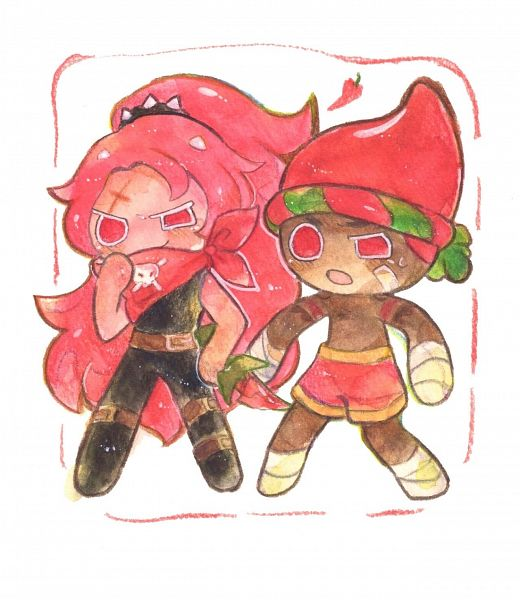 Tags: Anime, Syuragi, Cookie Run: OvenBreak, Cookie Run, Red Pepper Cookie, Chili Pepper Cookie, Red Pants, Thief, Traditional Media, Fanart, Twitter