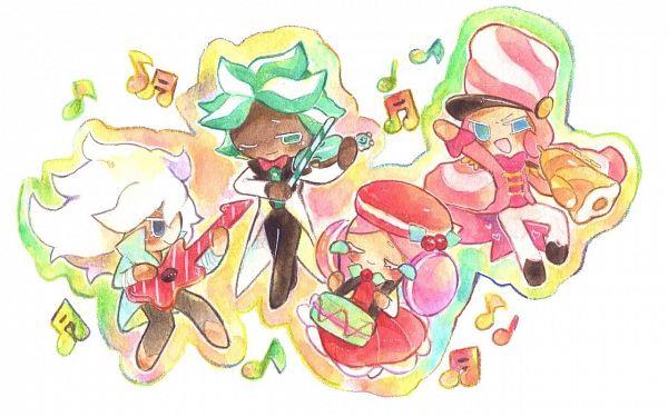 Tags: Anime, Syuragi, Cookie Run: OvenBreak, Cookie Run, Mint Choco Cookie, Marshmallow Cookie, Rockstar Cookie, Macaron Cookie, Playing Guitar, Drum, Electric Guitar, Trumpet, Drumsticks