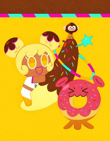 Tags: Anime, Ririko (Pixiv30503181), Cookie Run: OvenBreak, Cookie Run, Choco Monkey, Space Doughnut, Banana Cookie, Tumblr, Fanart, Fanart From Tumblr