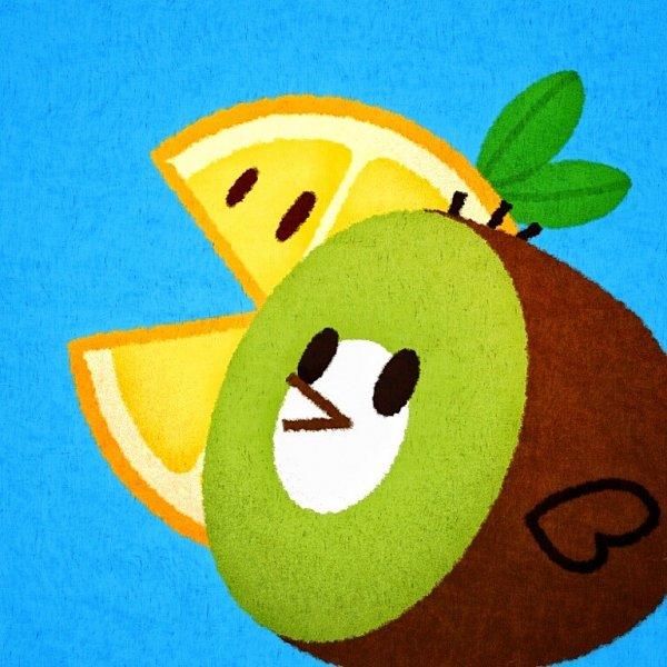 Tags: Anime, Ririko (Pixiv30503181), Cookie Run, Kiwi Bird, Lemon Slice (Cookie Run), Kiwi (Fruit), Lemon, Fanart From Tumblr, Fanart, Tumblr