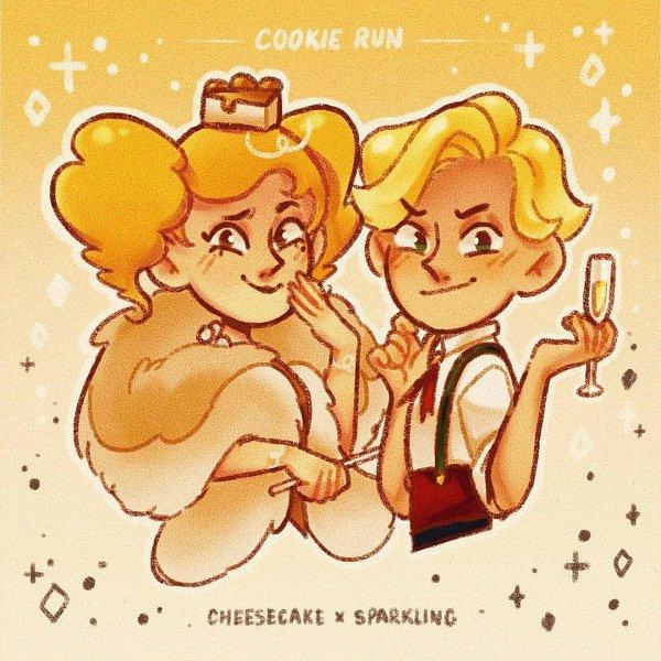 Tags: Anime, 52rmon, Cookie Run: OvenBreak, Cookie Run, Sparkling Cookie, Cheesecake Cookie, Fanart