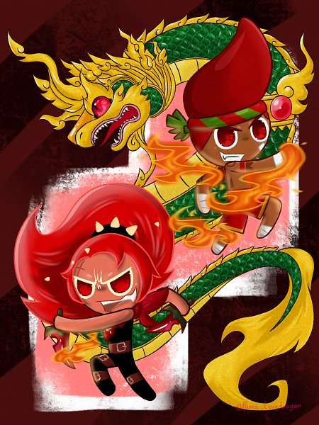 Tags: Anime, Puma Lovedragon, Cookie Run: OvenBreak, Cookie Run, Red Pepper Cookie, Chili Pepper Cookie, Red Pants, Fanart
