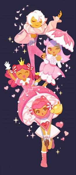 Tags: Anime, Joeeenn, Cookie Run: OvenBreak, Cookie Run, Princess Cookie, Pink Choco Cookie, Cherry Blossom Cookie, Whipped Cream Cookie, Ballerina Outfit, Ballet, Fanart, Fanart From Tumblr, Tumblr