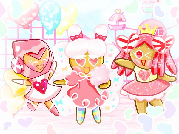 Tags: Anime, Jennalt-01angel, Cookie Run, Pink Choco Cookie, Cotton Candy Cookie, Princess Cookie, 2048x1536 Wallpaper, Fanart From DeviantART, deviantART, Wallpaper, Fanart