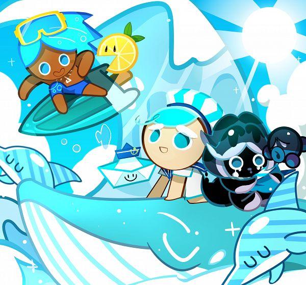 Tags: Anime, Myeolhwan, Cookie Run: OvenBreak, Cookie Run, Paper Boat Sailor, Peppermint Cookie, Lemon Slice (Cookie Run), Soda Cookie, Squid Ink Cookie, Inktopus, Octopus, Dolphin, Lemon