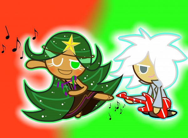 Tags: Anime, Pixiv Id 4156578, Cookie Run, Carol Cookie, Rockstar Cookie, Electric Guitar, Brown Dress, Lyre, Fanart From Pixiv, Pixiv, PNG Conversion, Fanart