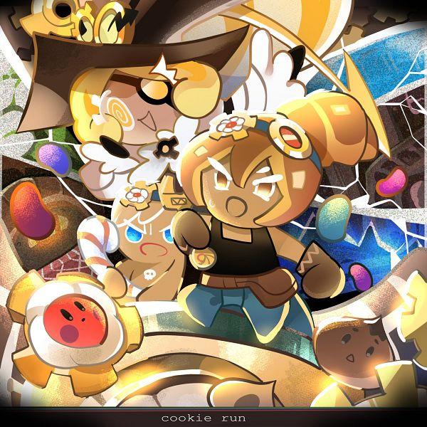 Tags: Anime, Dekapiyo, Cookie Run: OvenBreak, Cookie Run, Choco Drop, GingerBrave, Timekeeper Cookie, Cosmos Gear, Croissant Cookie, Fanart, Twitter, Operation Timeguard!