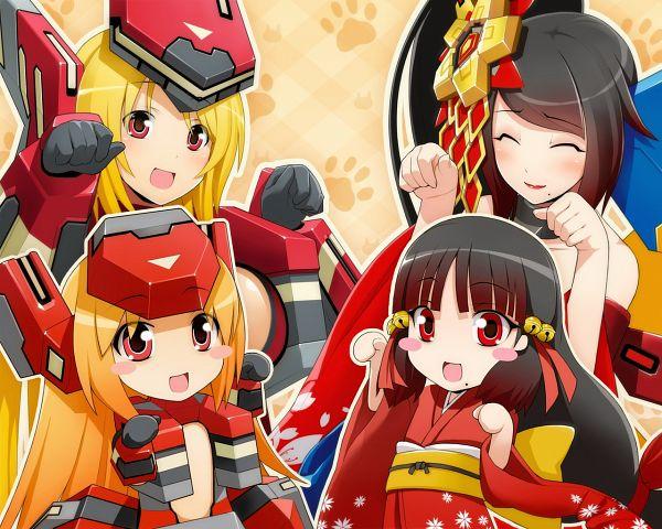 Tags: Anime, Cyberstep, Cosmic Break, Seraph Crimrose, Ouka Dayu, Crimrose, Ouka Kamuro, Official Art