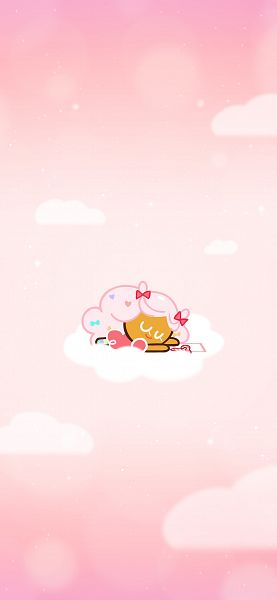 Tags: Anime, Devsisters, Cookie Run, Cotton Candy Cookie, Love Letter, 1125x2436 Wallpaper, Wallpaper, Twitter, Official Art, Mobile Wallpaper