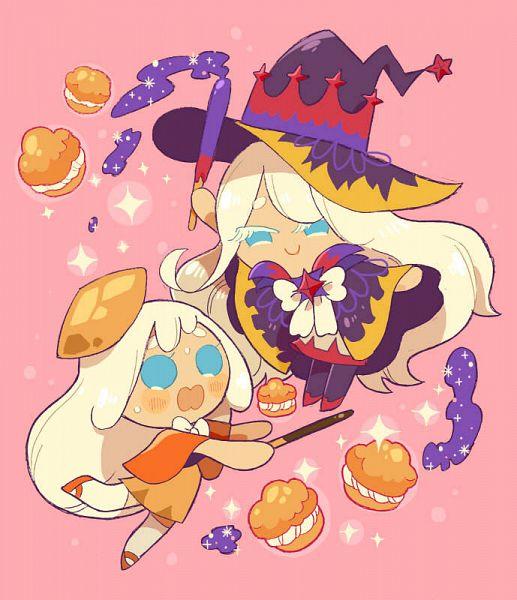 Tags: Anime, Misaki-omoomochiii, Cookie Run: OvenBreak, Cookie Run, Cream Puff Cookie, Cream Puff Cookie (Dark Magic Hat), Tumblr, Fanart From Tumblr, Fanart