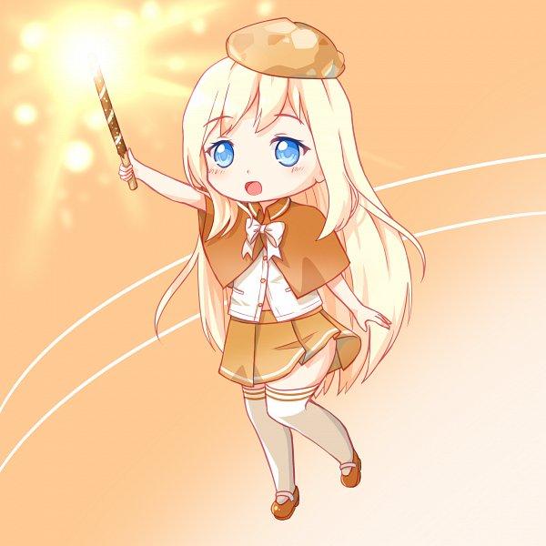 Tags: Anime, Wjddn7410, Cookie Run, Cream Puff Cookie, Orange Headwear, Brown Skirt, Orange Hat
