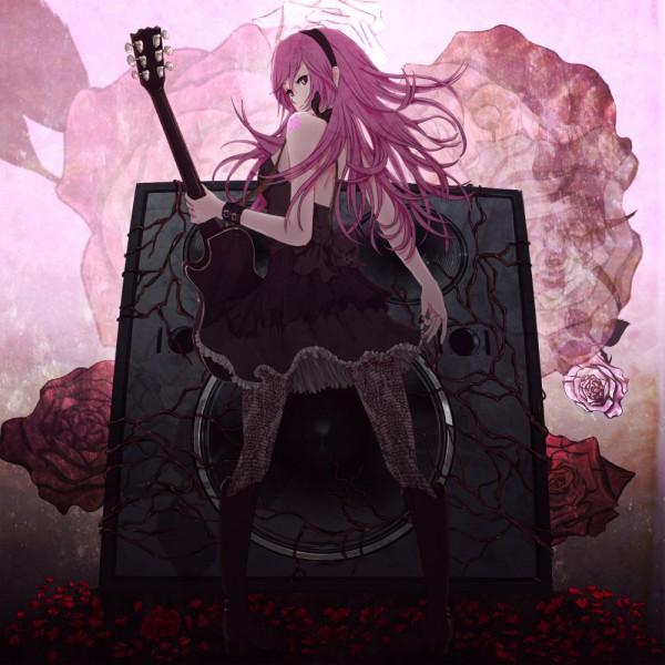 Tags: Anime, Aruk, VOCALOID, Megurine Luka, Crimson Camellia, Fanart, Pixiv