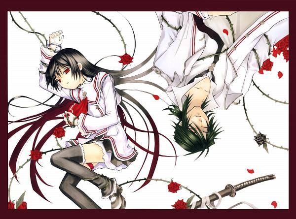 Tags: Anime, Mochizuki Jun, Crimson Shell, Pandora Hearts ~Odds And Ends~, Brambles, Manga Cover, Official Art, Scan