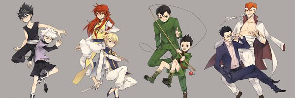Tags: Anime, Qianmian, Yu Yu Hakusho, Hunter x Hunter, Gon Freaks, Kuwabara Kazuma, Kurapika, Hiei, Killua Zoldyck, Kurama, Leorio Paladiknight, Urameshi Yuusuke, Creator Connection