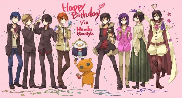 Tags: Anime, Yuzu (pixiv288987), Sayonara Zetsubou Sensei, Working!!, Ao no Exorcist, Monogatari, Natsume Yuujinchou, Mobile Suit Gundam 00, DURARARA!!, Dear Girl ~stories~, Pani Poni Dash, Yondemasuyo Azazel-san, Angel Beats!
