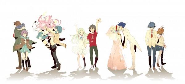 Tags: Anime, Takumi (Scya), KEY (Studio), Ano Hi Mita Hana no Namae o Bokutachi wa Mada Shiranai., Suzumiya Haruhi no Yuuutsu, Tengen Toppa Gurren-Lagann, CLANNAD, Angel Beats!, Furukawa Nagisa, Simon (Tengen Toppa Gurren-Lagann), Kyon, Yui (Angel Beats!), Nagato Yuki