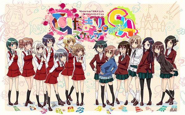 Tags: Anime, Sakebuotoko, GA: Geijutsuka Art Design Class, Hidamari Sketch, Sae (Hidamari Sketch), Awara Chikako, Nazuna (Hidamari Sketch), Natsume (Hidamari Sketch), Oomichi Miyabi, Hiro (Hidamari Sketch), Miyako (Hidamari Sketch), Noda Miki, Yamaguchi Kisaragi