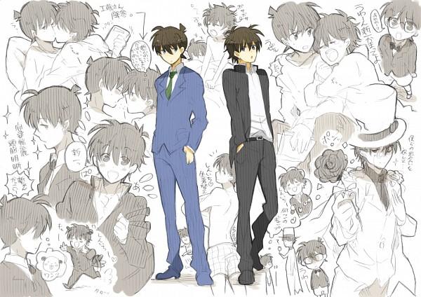 Tags: Anime, Tukemono6, Meitantei Conan, Magic Kaito, Edogawa Conan, Kuroba Kaito, Kudou Shinichi, Kaitou Kid, Pixiv, Fanart, Fanart From Pixiv